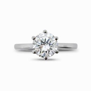 Brilliant Cut 6 Claw Set Engagement Ring 1.01ct EVVS1 GIA